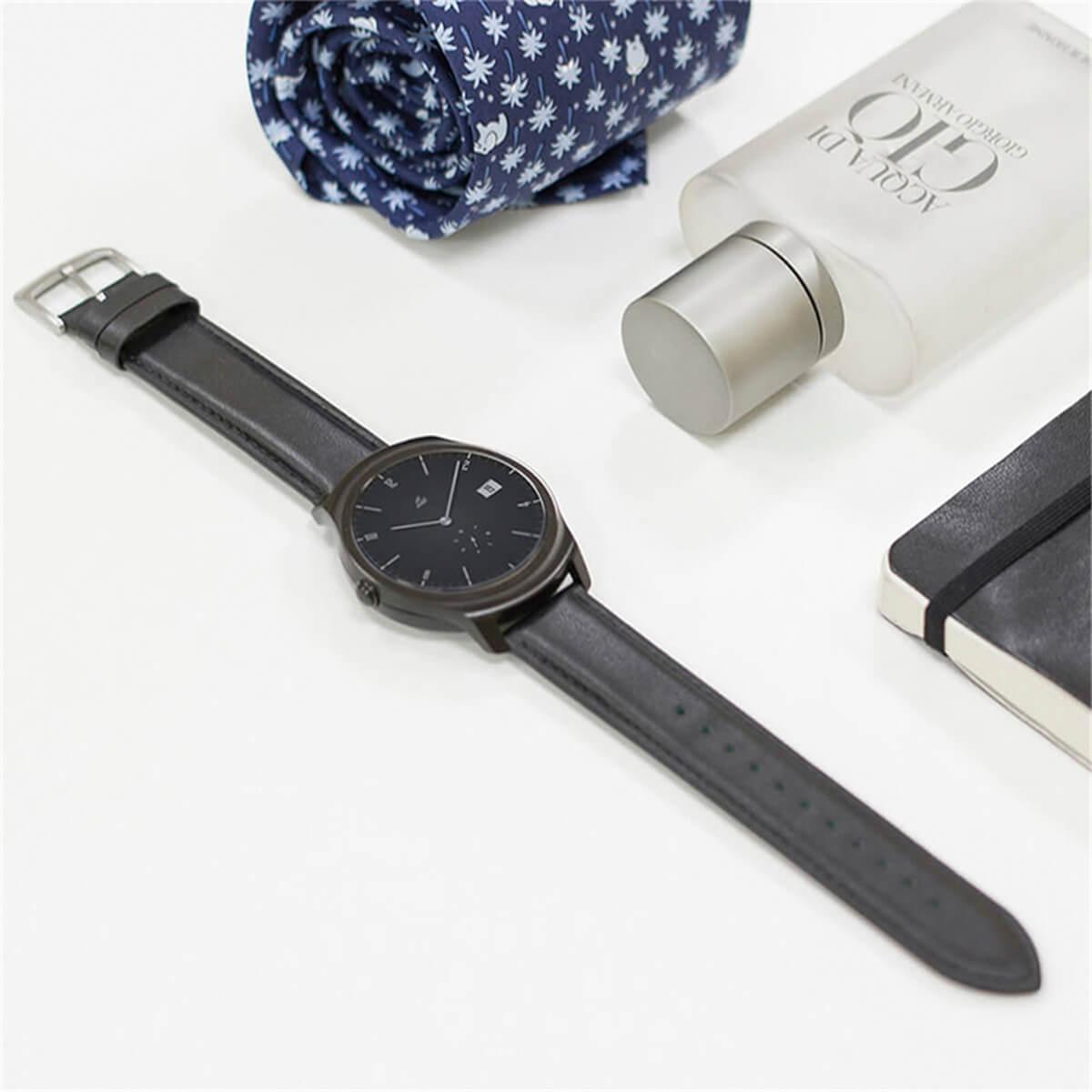 mobvoi Кожаный ремешок MOBVOI TicWatch E/C2 Leather Strap 20mm Black M6201000T0C2