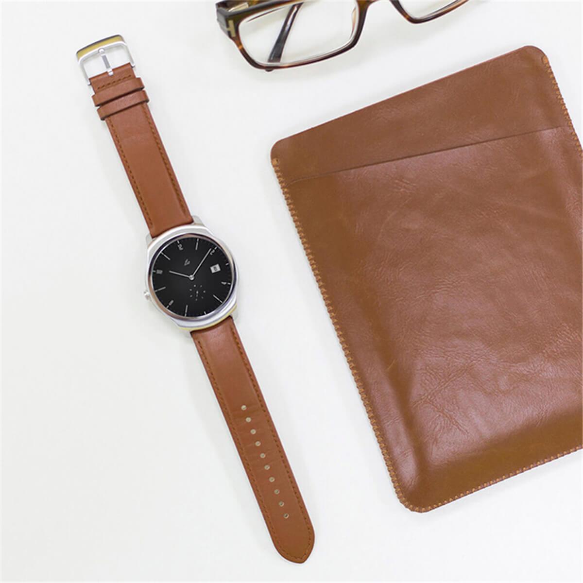 mobvoi Кожаный ремешок MOBVOI TicWatch E/C2 Leather Strap 20mm Brown M6201000T0C3