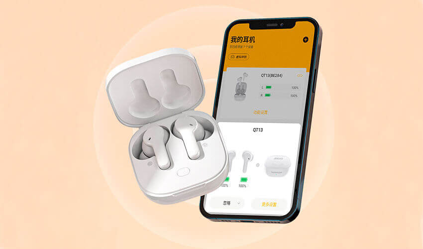 QCY T13 TWS Bluetooth Earbuds White -7