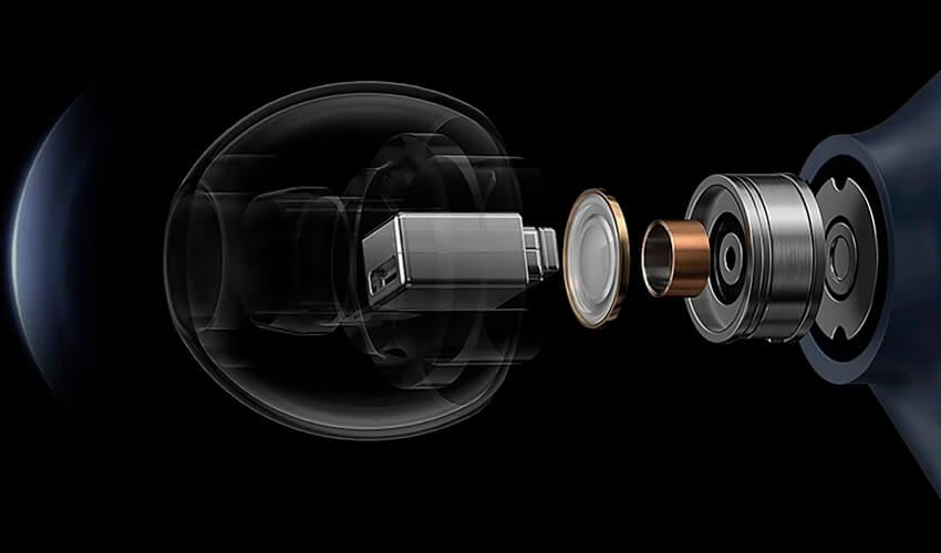 Двойной драйвер динамика для лучшего звука