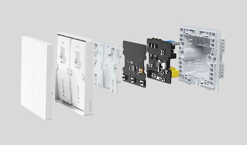 Aqara Light Switch D1 (Double-Button) ZigBee 3.0 White (QBKG22LM/AK044CNW01)