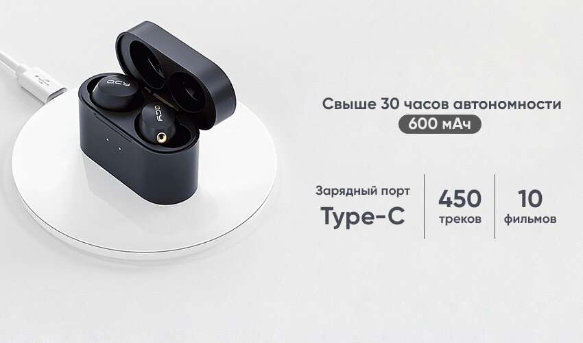 Наушники XIAOMI QCY HT01 ANC TWS Bluetooth Earbuds