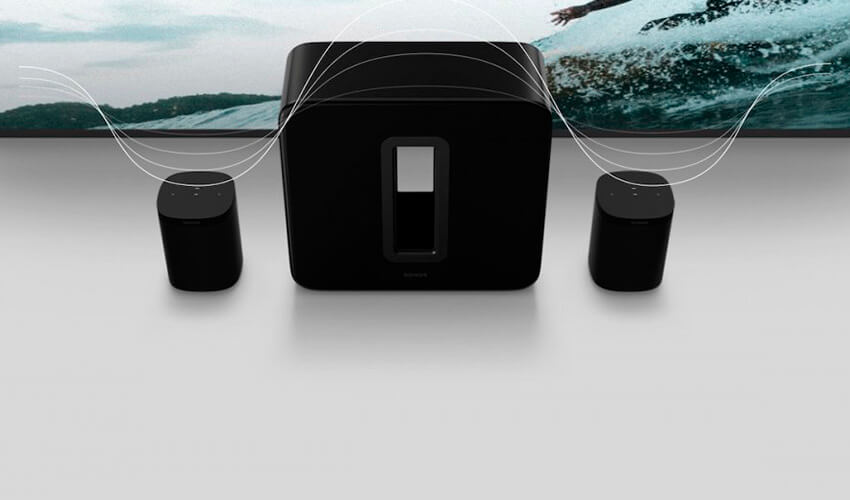 Сабвуфер Sonos Sub (Gen3) gloss black (SUBG3EU1BLK)