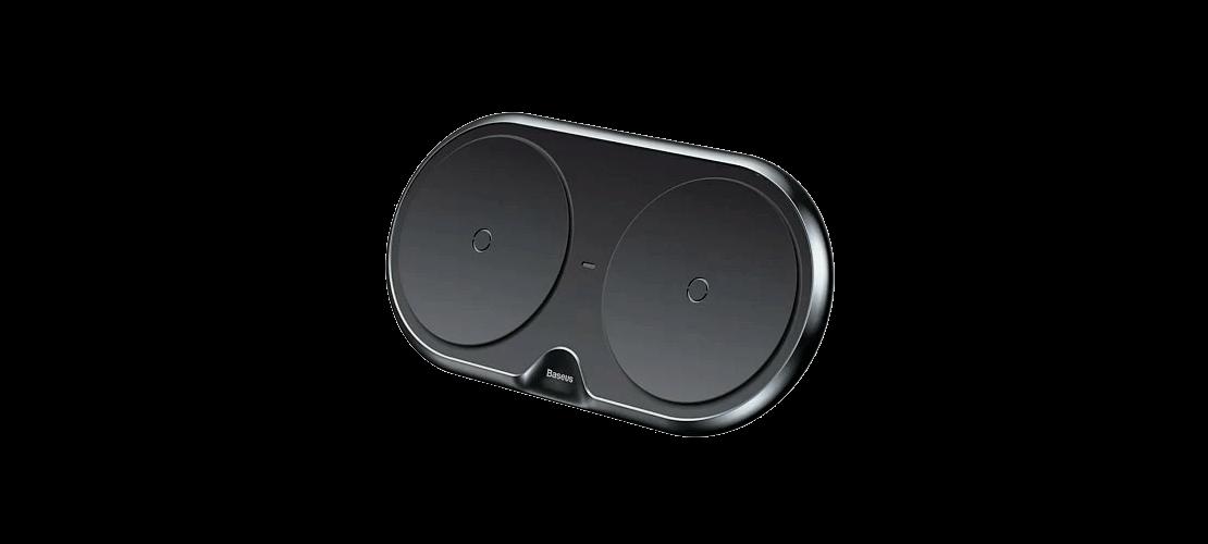Беспроводное зарядное устройство Baseus Dual Wireless Charger Black