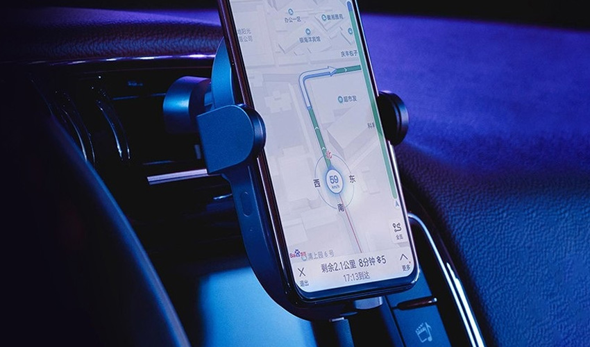 Автодержатель Xiaomi Mi Qi Car Wireless Charger 20W Пластик