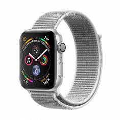 Смарт-часы Apple Watch Series 4 (GPS) 44mm Silver Aluminum w. Seashell Sport Loop