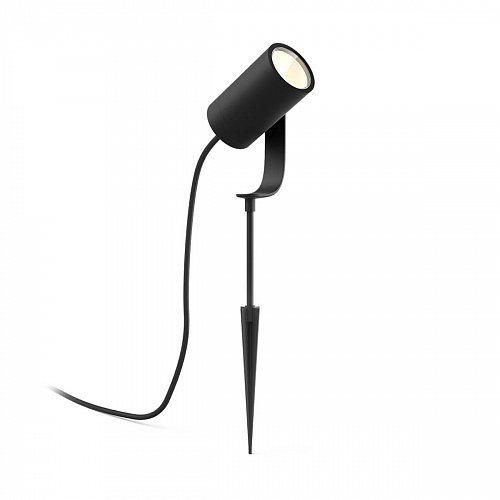 Смарт-светильник PHILIPS Lily spike black 1x8W SELV (17428/30/P7)