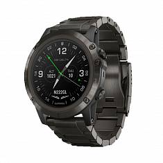 Авиационные часы GARMIN D2 Delta PX with DLC Titanium & Black Silicone Bands