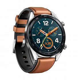 Смарт-часы HUAWEI Watch GT Stainless Steel (Fortuna B19 Classic Silver) (55023257)