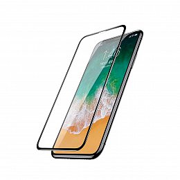Защитное стекло Baseus Silk Screen Anti-Blue Light Tempered Glass Film для Apple iPhone X Black (SGAPIPHX-HEB01)