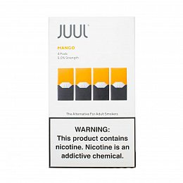 Картиридж JUUL Pods 4 pack Mango 0.7 ml with 5% nicotine (Манго)