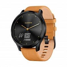 Cпортивные часы Garmin Vivomove HR Premium Black / Tan Regular Black (010-01850-00/A0)
