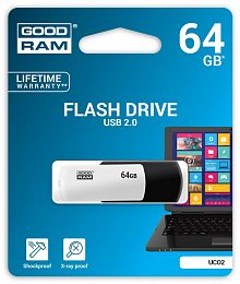 Флеш накопитель 64GB GOODRAM UCO2 (Colour Mix) Black/White (UCO2-0640KWR11)