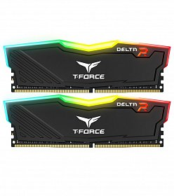 Память DDR4 2x8GB/3200 Team T-Force Delta Black RGB (TF3D416G3200HC16CDC01)