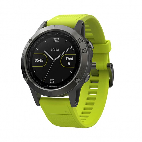 Спортивные часы GARMIN Fenix 5 Slate Gray with Yellow Band (010-01688-02)