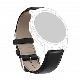 Кожаный ремешок MOBVOI TicWatch E/C2 Leather Strap 20mm Black