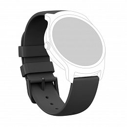 Силиконовый ремешок MOBVOI TicWatch E/C2 Silicone Strap 20mm Black