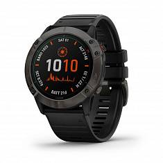 Мультиспортивные часы GARMIN Fenix 6X Pro Solar Titanium Carbon Grey DLC with Black Band