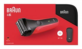 Электробритва Braun Series 3 300TS Red + чехол