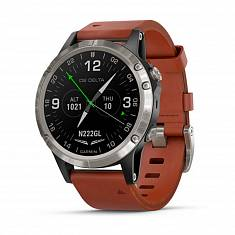 Авиационные часы GARMIN D2 Delta with Brown Leather & Black Silicone Bands
