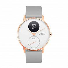 Спортивные часы WITHINGS Steel HR Watch 36mm White/Rose Gold with Grey Silicone Band