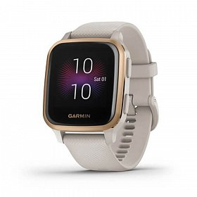 Cмарт-часы GARMIN Venu SQ Music Light Sand/Rose Gold