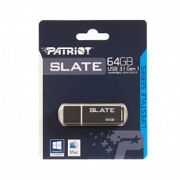 Флеш накопитель USB 3.1 64GB Patriot Slate Black (PSF64GLSS3USB)