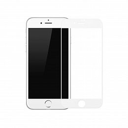 Защитное стекло Baseus Silk-screen 3D Arc iPhone 7/8 White (SGAPIPH8N-KA02)