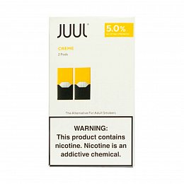 Картиридж JUUL Pods 2 pack Creme 0.7 ml with 5% nicotine (Ванильный крем)