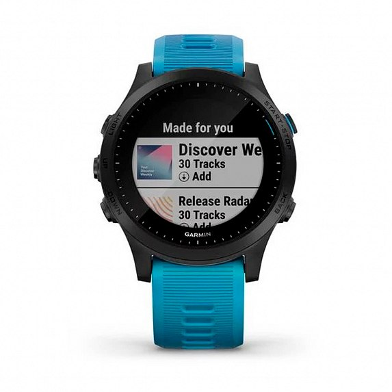 Cпортивные часы GARMIN Forerunner 945 Tri-bundle HRM with Blue and Black Silicone Bands