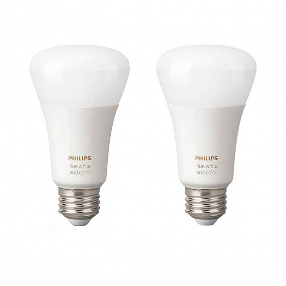 Набор из 2-х смарт-ламп Philips Hue 10W A19 E27 2Pack