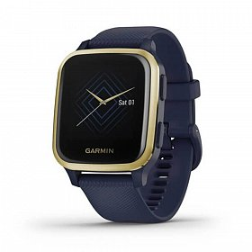 Cмарт-часы GARMIN Venu SQ Music Navy/Light Gold