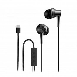 Наушники Xiaomi Mi Noise Reduction Type-C In-Ear Earphones Black (ZBW4382TY)