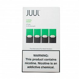 Картиридж JUUL Pods 4 pack Mint 0.7 ml with 5% nicotine (Мята)