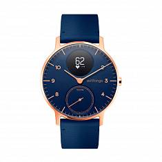 Спортивные часы WITHINGS Steel HR Watch 36mm Blue/Gold with Leather Blue & Blue Silicone Bands