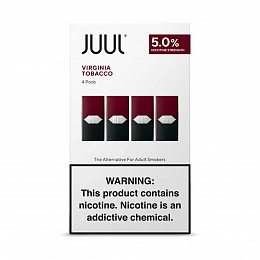 Картиридж JUUL Pods 4 pack Virginia Tobacco 0.7 ml with 5% nicotine (Табак)