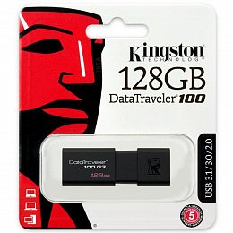 Флеш накопитель USB 3.0 128GB Kingston DataTraveler 100 G3 (DT100G3/128GB)
