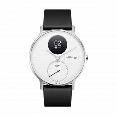 Спортивные часы WITHINGS Steel HR Watch 36mm White/Silver with Black Silicone Band