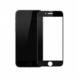 Защитное стекло Baseus Silk-screen 3D Arc for iPhone 7/8 Black (SGAPIPH8N-KA01)