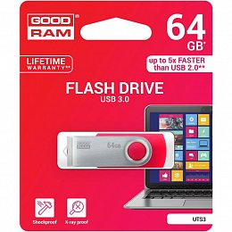 Флеш накопитель USB 3.0 64GB GOODRAM Twister Red (UTS3-0640R0R11)