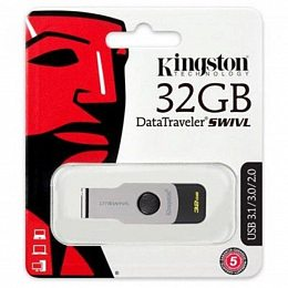 Флеш накопитель USB 3.1 32GB Kingston DataTraveler Swivl Black (DTSWIVL/32GB)
