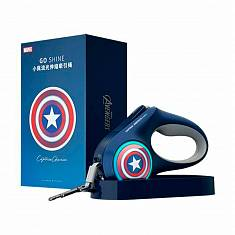 Поводок-рулетка для собак Xiaomi Petkit Telescopic Traction Rope The Marvel Version Captain America