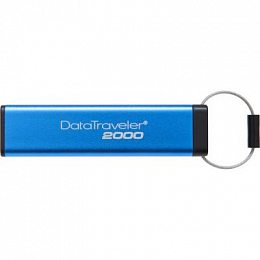 USB 3.0 16GB Kingston DataTraveler 2000 Keypad 256bit AES Hardware Encrypted (DT2000/16GB)