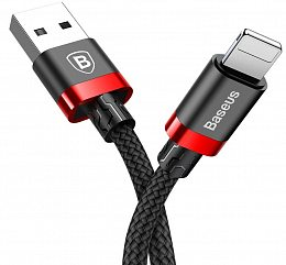 Кабель Baseus Kevlar Lightning Cable 1m Black/Red (CALKLF-B19)
