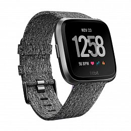 Смарт-часы FITBIT Versa Special Edition Charcoal/Woven (FB505BKGY)